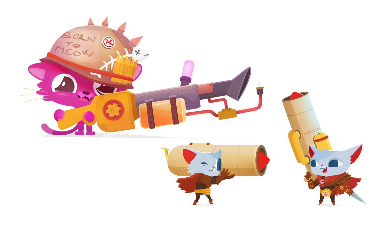 Mazák, Truben, Ilustrácia, postavičky, kresba, charakter, mačka, video hra,